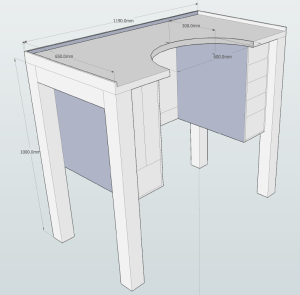 Jewelers Bench plans with dimentions 1