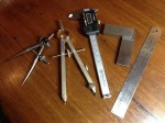 Jewelers Measuring and marking tools